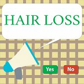 Writing Note Showing Hair Loss. Business Photo Showcasing Loss Of Huanalysis Hair From The Head Or A poster