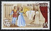 HUNGARY - CIRCA 1967: a stamp printed in Hungary shows an illustrated scene of
