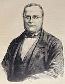 Engraved portrait of Camillo Benso di Cavour, leading figure in Italian unification movement. Origin