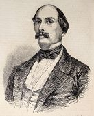 Antique illustration of Luigi Carlo Farini, Italian statesman and historian. Original, from drawing