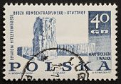 POLAND - CIRCA 1967: a stamp printed in Poland dedicated to memory of Nazi martyrs. Poland, circa 1967