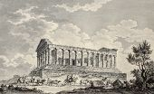 Temple of Concordia near Agrigento, Sicily. By Desprez, Berthault and De Ghendt, published on Voyage Pittoresque de Naples et de Sicilie, by J. C. R. de Saint Non, Impr. de Clousier, Paris, 1786
