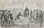Kaireddine Pasha receive solemn investiture for the Bey of Tunis by the Sultan of Constantinople. Dr
