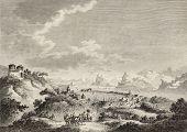 View of messina port, Sicily. By Desprez, Allix and Dambrun, published on Voyage Pittoresque de Naples et de Sicilie,  J. C. R. de Saint Non, Imprimerie de Clousier, Paris, 1786