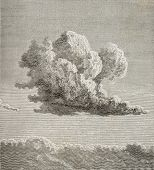 Old illustration of a cloud. By unknown author, published on L'Eau, by G. Tissandier, Hachette, Pari