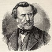 Old engraved portrait of Ambroise Thomas, French composer and Director of the Conservatoire de Paris