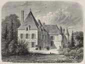 Chateau Haut-Brion, Bordeaux, France. Extract from Richesse Gastronomique de France (Hetzel ed.). Created by Lallemand and Lancelot, published on L'Illustration, Journal Universel, Paris, 1868