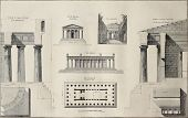 Geometric plan of Temple of Concordia, Agrigento, Sicily. By Renard and Berthault, published on Voyage Pittoresque de Naples et de Sicilie, by J. C. R. de Saint Non, Impr. de Clousier, Paris, 1786