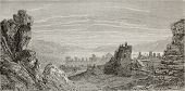 Old view of the gulf form Mount Pagus castle ruins, Izmir, Turkey. Created by Gaiaud, published on L
