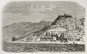 Old view of Nicomedia (nowadays Izmit) senior capital city of the Roman empire. Created by Gaiaud, p