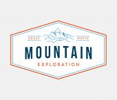 Outdoor Mountain Expedition Is A Vector Illustration About Discovering And Exploring poster