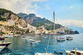 Positano, Amalfi Coast, Campania, Italy. Beautiful View poster