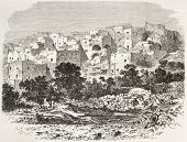 Old view of Nazareth, Palestine. Created by Therond after photo of unknown author, published on Le T