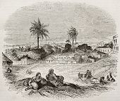 Bridgetown old view, Barbados. By unidentified author, published on Magasin Pittoresque, Paris, 1840