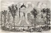 Fontaine des Innocents old view, Paris.  Created by Provost, published on L'Illustration, Journal Universel, Paris, 1860