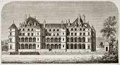Chateau de Madrid old view, Bois de Boulogne, Paris surroundings (demolished at the end of 18th cent