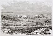 Mostaganem old view, Algeria. Created by Yung, published on Magasin Pittoresque, Paris, 1844