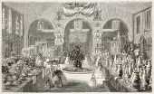 Industry and fine art expo in Toulouse: industrial products main hall. Created by Freeman, published on L'Illustration, Journal Universel, Paris, 1858