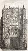 Colegio de San Gregorio portal, Valladolid. Created by Marc,  published on L'Illustration, Journal U