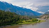A gorgeous view at Fraser river. British Columbia. Canada.