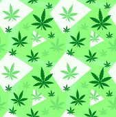 Marijuana,green Weed, Dope Seamless Pattern With Abstract Color Geometry. Vector Illustration Backgr poster
