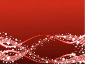 Red Comets Christmas Background