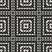 Vector Ornamental Seamless Pattern With Geometric Elements, Squares, Rhombuses. Ethnic Tribal Backgr poster