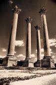 Four Pillars In Sepia Toning