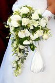 Wedding Series . Wedding Bouquet From White Flowers.