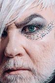 Nature Chooses Who Will Be Transgender. Fashion Male Eye Makeup. Transgender Man Wear Eyeshadows And poster
