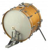 stock image of the musical instrument bass drum