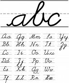 Vector Handwriting Alphabet