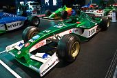 GENEVA - MARCH 7:  Jaguar Formula 1 bolide on display at the 79th International Motor Show Palexpo-G