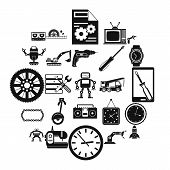 Machinery Icons Set. Simple Set Of 25 Machinery Vector Icons For Web Isolated On White Background poster