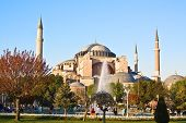 Famous Hagia Sophia church and mosque in Istanbul, Turkey