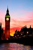 picture of big-ben  - Famous Big Ben clock tower in London - JPG