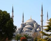 Blue Mosque of Istanbul, Turkey, also known as the Sultan Ahmed Mosque