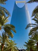 RIYADH - DECEMBER 22: Kingdom tower on December 22, 2009 in Riyadh, Saudi Arabia. Kingdom tower is main landmark of Riyadh city