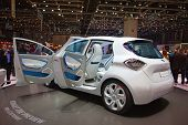 GENEVA - MARCH 8: The Renault Zoe concept car with electric engine and zero emission on display at t