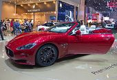 GENEVA - MARCH 8: The Maserati GTS on display at the 81st International Motor Show Palexpo-Geneva on