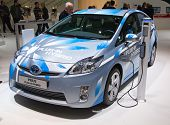 GENEVA - MARCH 8: The Toyota Prius Plug-in hybrid on display at the 81st International Motor Show Pa