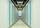 shot of network cables and servers in a technology data center(See more network cables and servers b