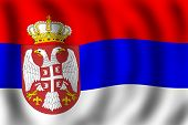 Flag Of The Republic Of Serbia poster