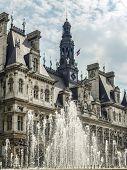 Paris City Hall or Hotel de Ville in Paris, France poster