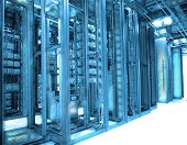 stock photo of raid  - communication and internet network server room - JPG