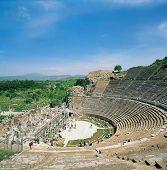 elevated view of Ephesus in Pergamum Turkey