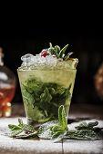 Mojito Cocktail In A Glass poster