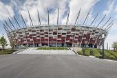 Entrance to National stadium Warsaw Poland