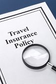 picture of insurance-policy  - Document of Travel Insurance Policy for background - JPG