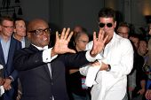 LOS ANGELES - SEP 11:  LA Reid, Simon Cowell at the FOX  X-Factor Judges Handprint Ceremony at Graum